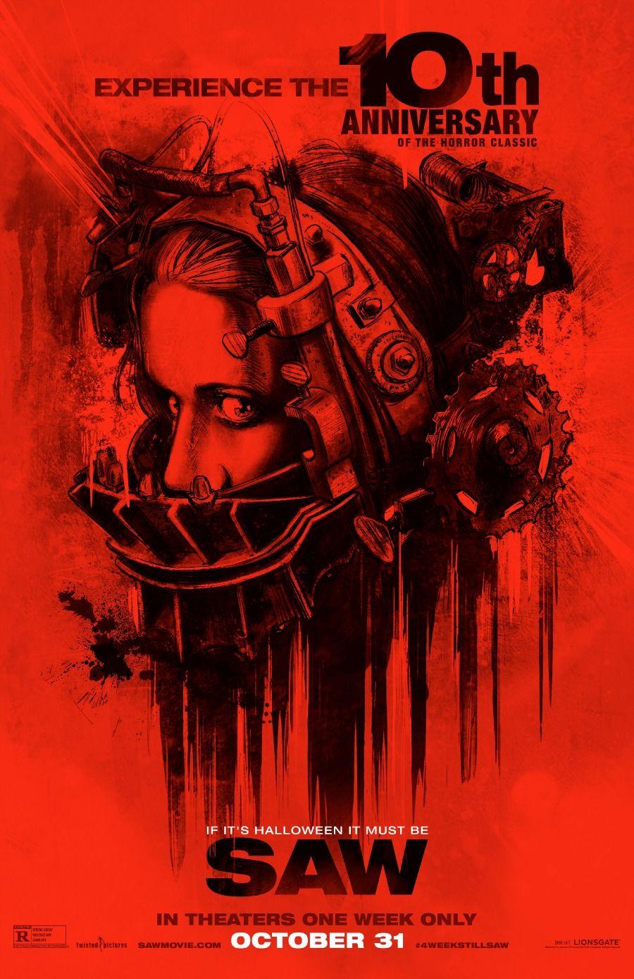 10th Anniversary #Saw Re-Release Poster & Trailer - https://www.youtube.com/watch?v=xDoxuZzhrnw
