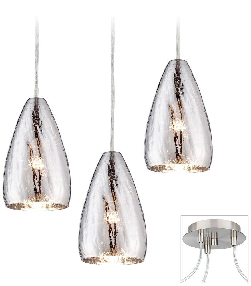 Possini Euro Portico Brushed Nickel Triple Swag Chandelier Possinieurodesign Contemporary Swag Chandelier Blown Glass Pendant Brushed Nickel Chandelier