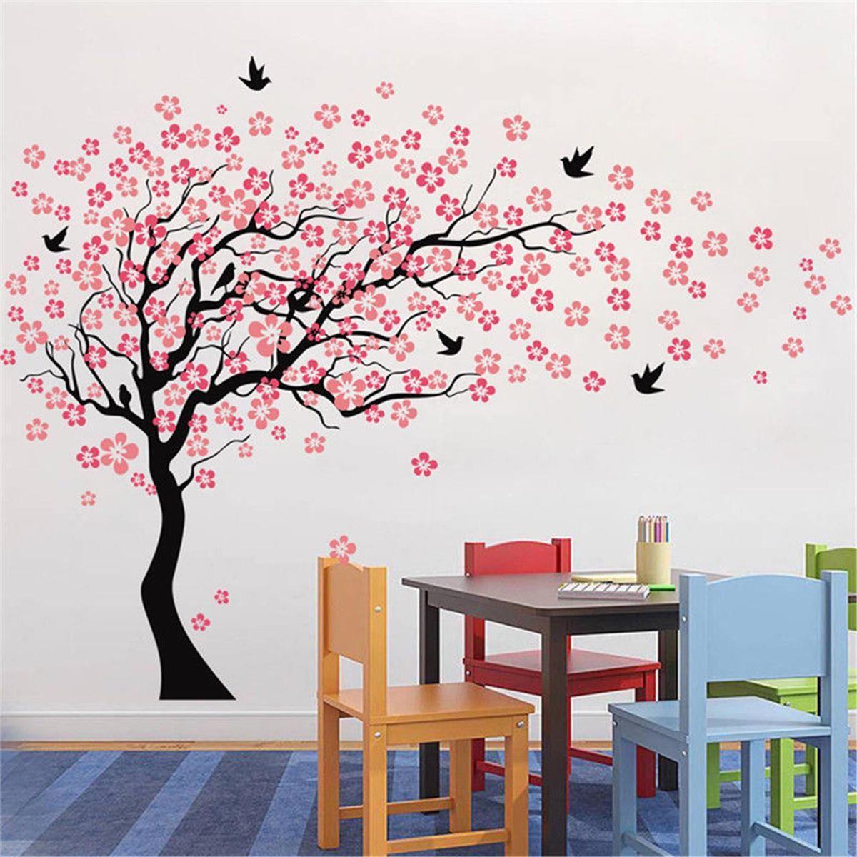 Large Wall Tree Baby Nursery Flower Wall Sticker Cherry Blossom Sticker Kids Vinyl Art Decal Cherry Blossom Wall Art Tree Wall Painting Tree Wall Decal