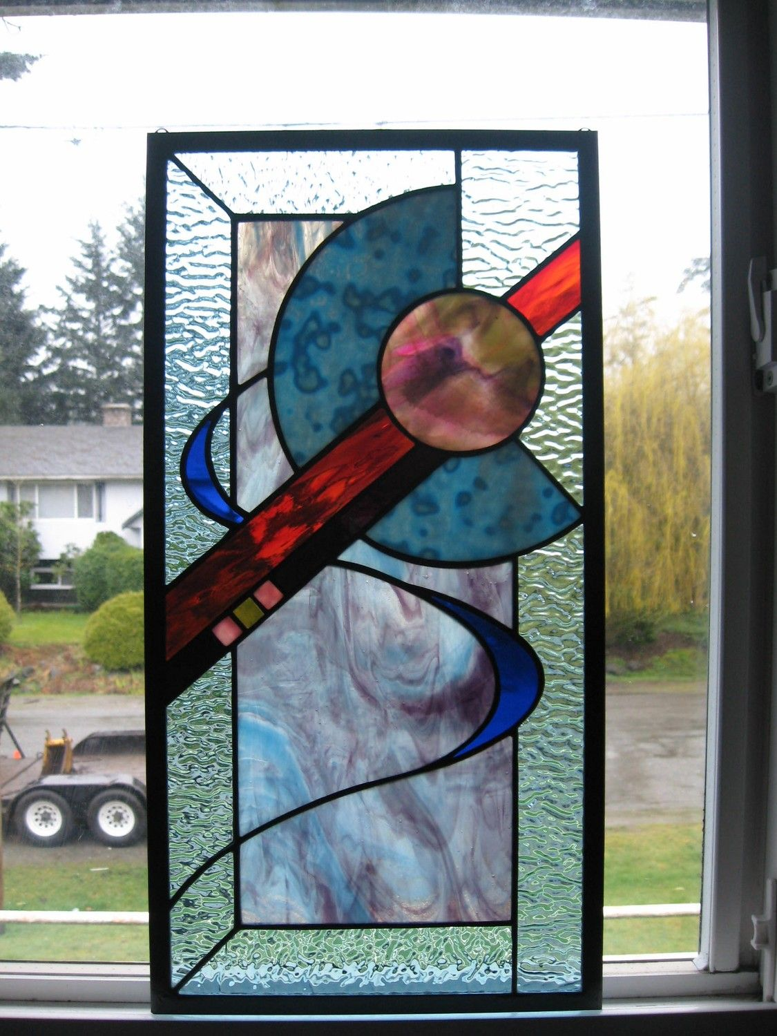 Glass window design - Stained Glass Abstract Design Window