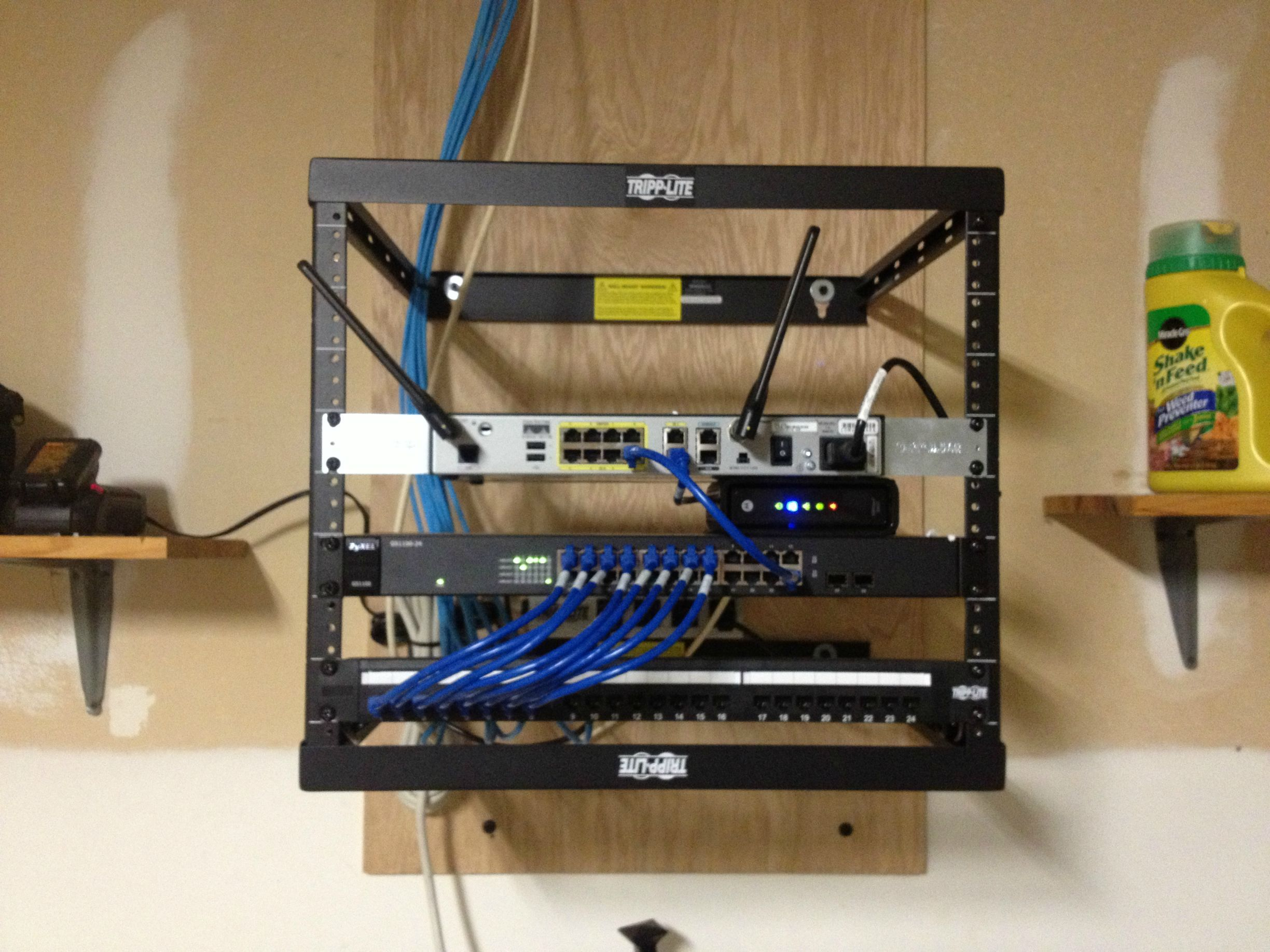 clean network rack no smarter way to do it mediacenter tech
