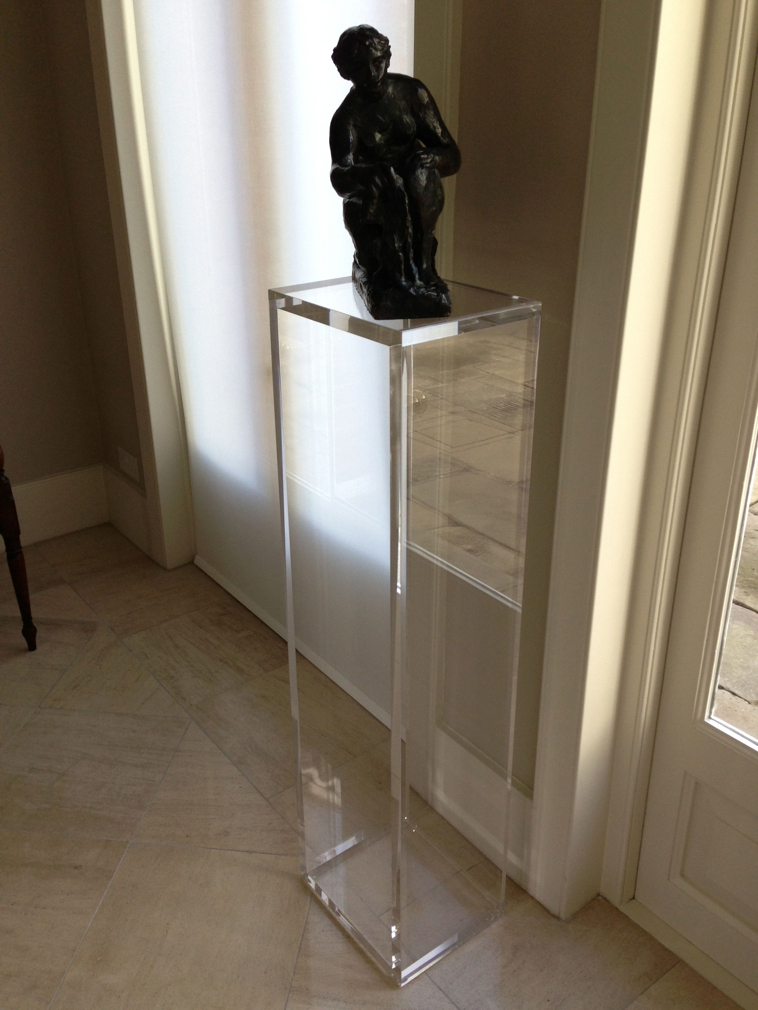 acrylic furniture uk. Carewjones.co.uk Ltd - Acrylic Pedestal Displaying This Wonderful Bronze Sculpture. Made To Measure. Furniture Uk O