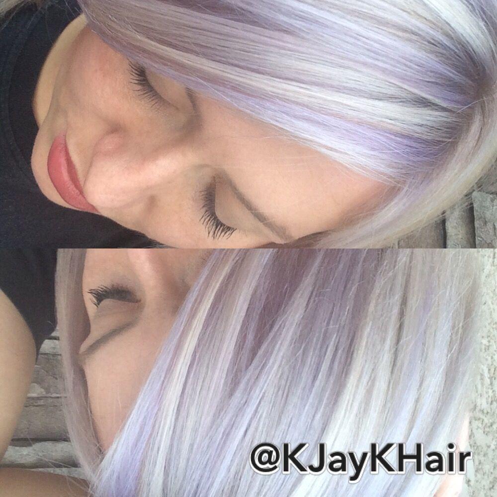 Platinum Lavender Hair Short Shorthair Purple Purplehair Highlights Unicornhair Pastel Pastelhair Lilac Hair Lavender Hair Lavender Hair Highlights