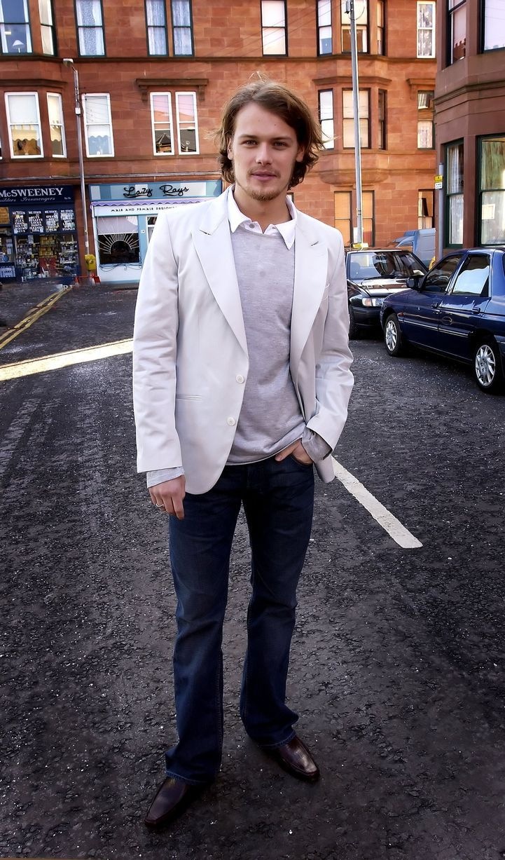Sam on the set of River City - In pictures: Hunky photos of