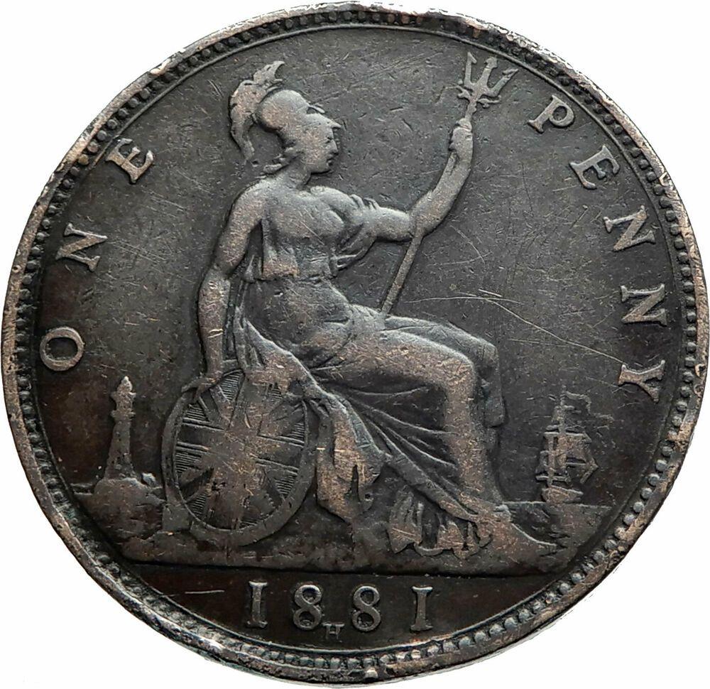 1881 UK Great Britain United Kingdom QUEEN VICTORIA