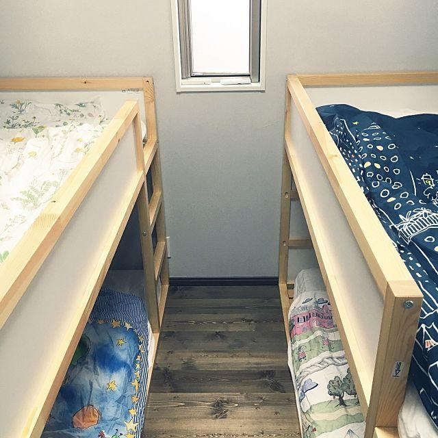 四畳半レイアウト実例 家具の配置と気になる収納術 四畳半 レイアウト 子供の寝室 子供のベッドルーム