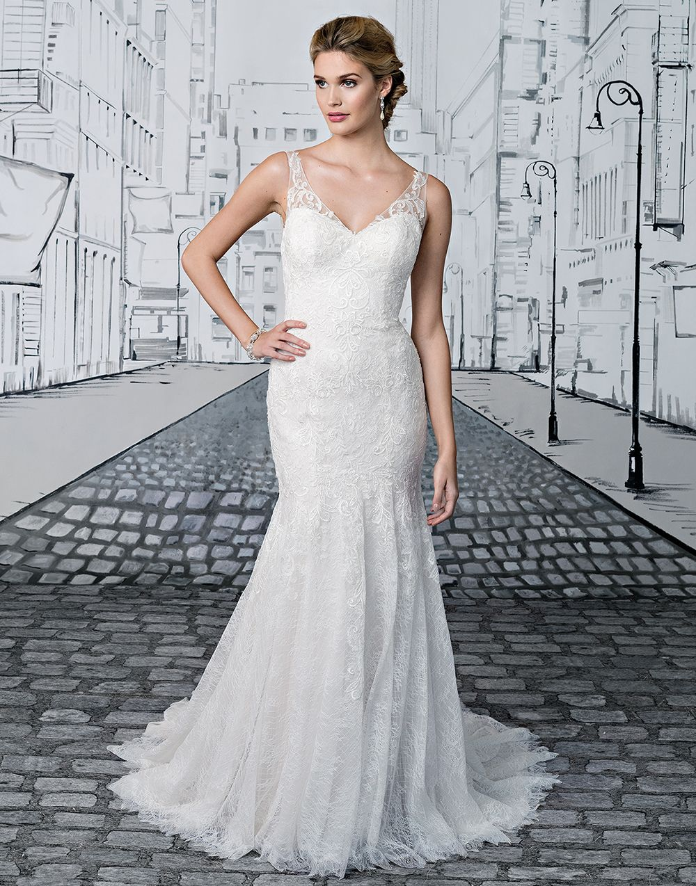 7f2b2674ae Justin Alexander wedding dresses style 8890 Ivory Size 10 The perfect touch  of glamour is achieved by timeless embellishments. V-neck fit and flare gown  ...