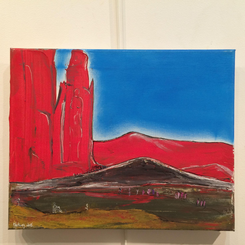 Le canyon des femmes acrylique sur toile 30 x40 cm