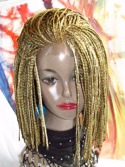 Fully Hand Braided Lace Front Wig Small Box Braids Color