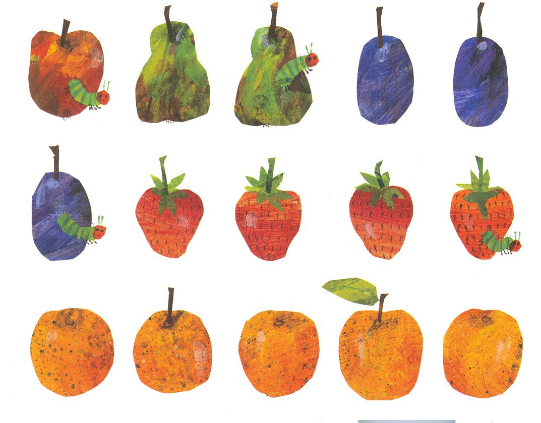 Fruit postcard want this pinterest eric carle for Very hungry caterpillar templates free