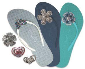 FlipOut Sandals - bling up your sandals for a destination wedding