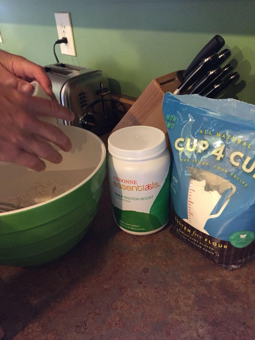 Arbonne Daily Protein Gluten-Free Blueberry Pancakes.