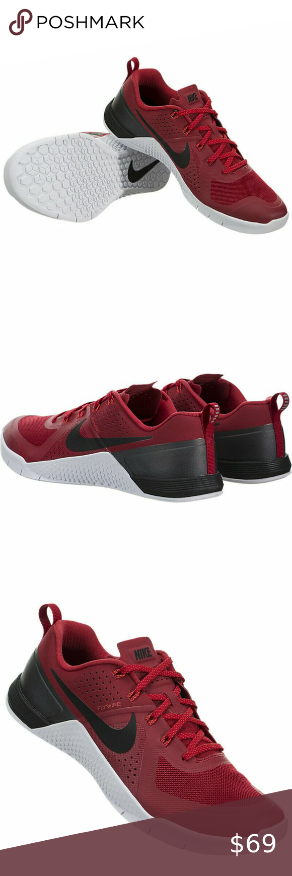 New Men's Nike Metcon 1 Size 14 Gym Red