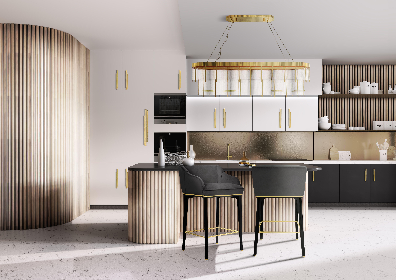 Classic And Modern Kitchen In 2020 Modern Kitchen Cabinets Contemporary Furniture Design Stylish Kitchen