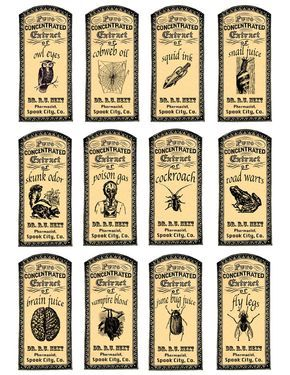 photo about Free Printable Apothecary Labels identify magic potions apothecary labels labels Halloween labels