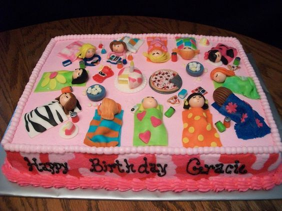 Image Result For Sleepover Birthday Cake