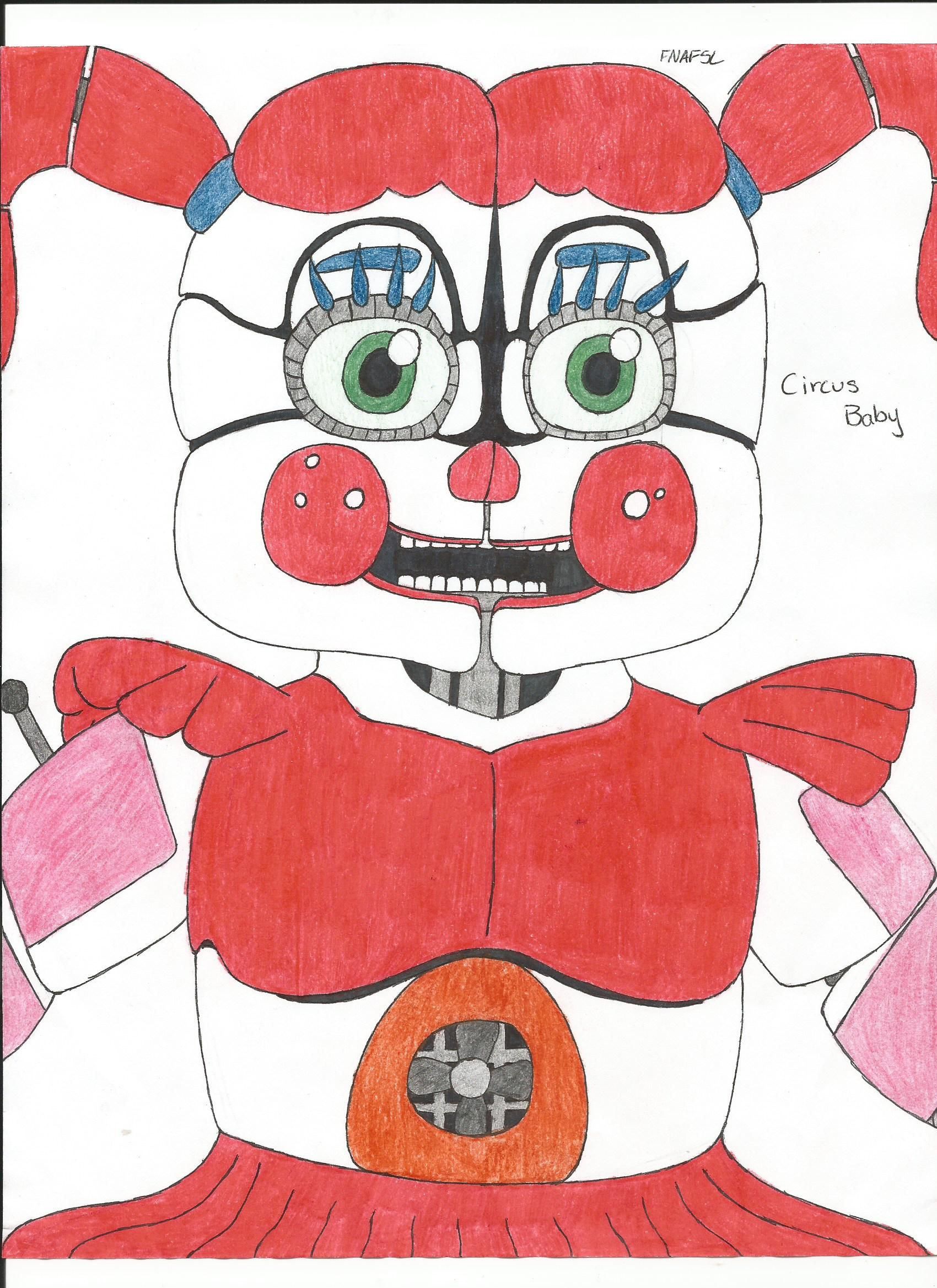 Circus Baby Coloring Pages