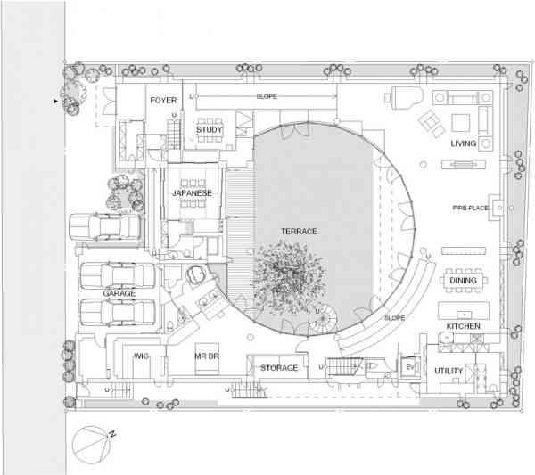 Circular Courtyard Plans House Layout Plans Floor Plans House Floor Plans
