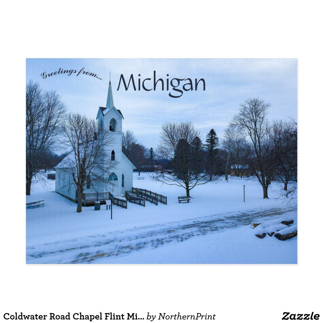 Coldwater Road Chapel Flint Michigan Postcard Zazzle Ca Flint Michigan Chapel Michigan