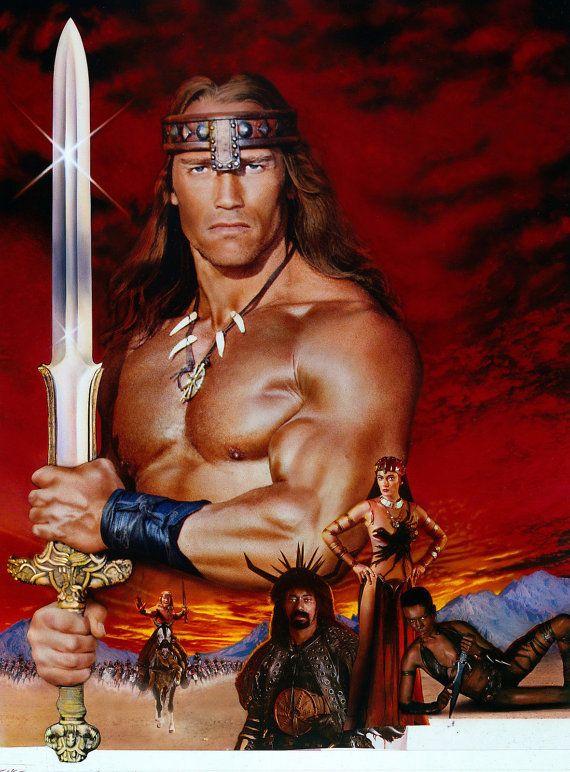 Conan The Barbarian Art Poster Arnold Schwarzenegger