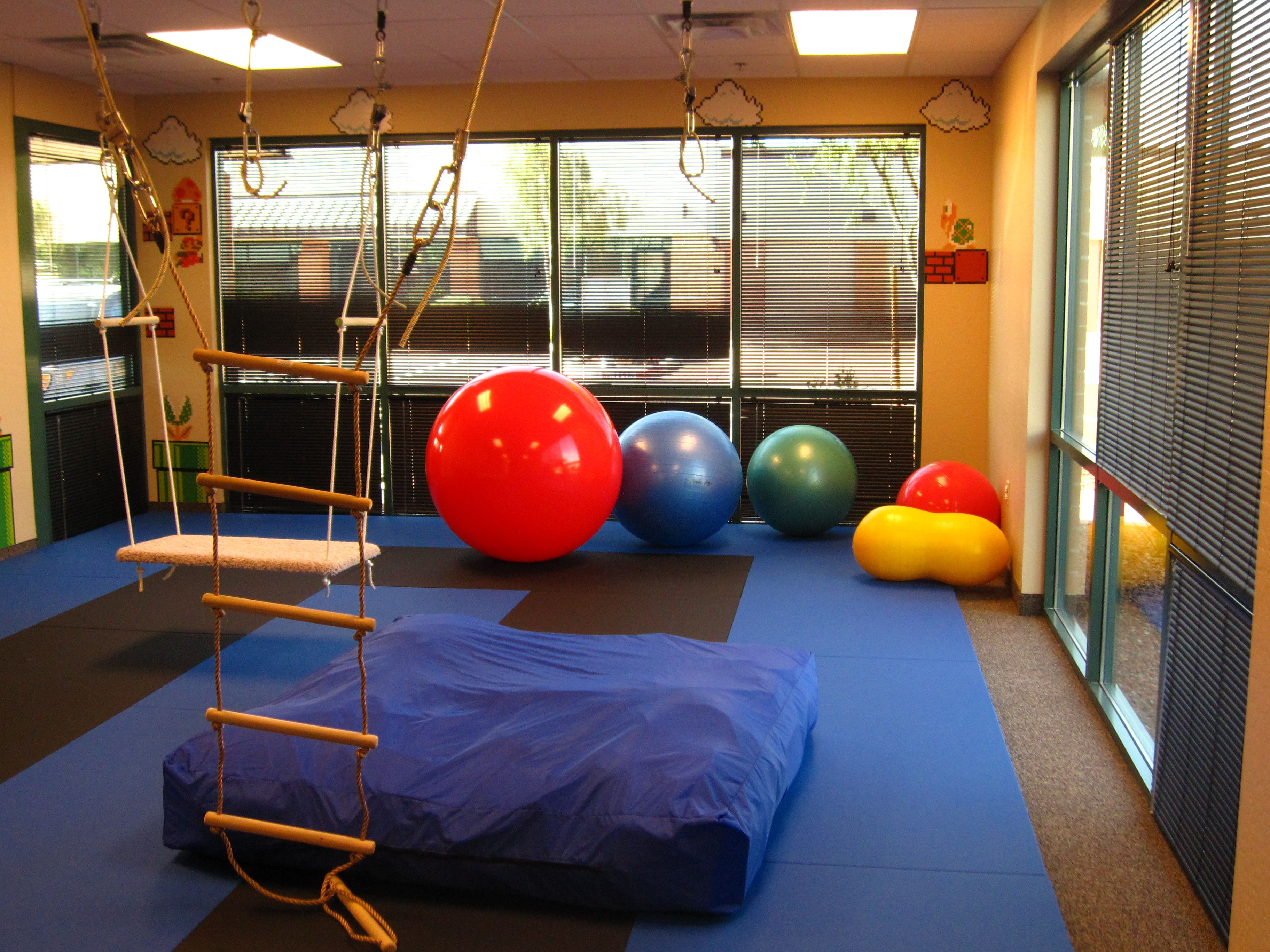 Sensory Gym At Piller Child Development Ahwatukee Pediatric Therapy Sensory Rooms Therapy Room