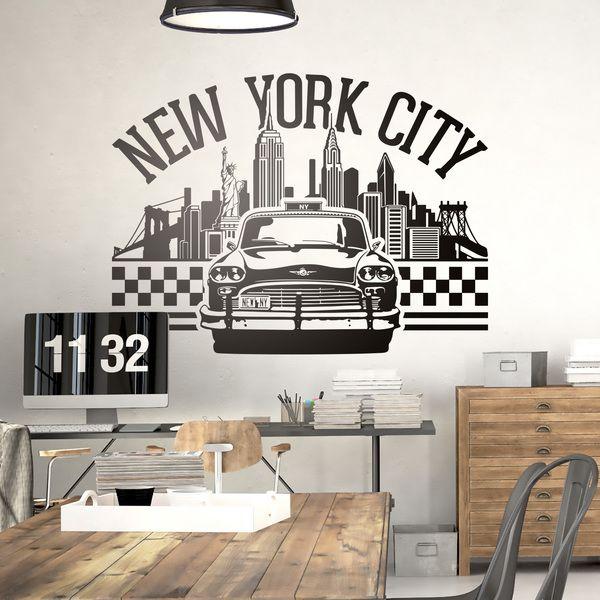 stickers muraux new york city 2 0 paul chambre pinterest. Black Bedroom Furniture Sets. Home Design Ideas