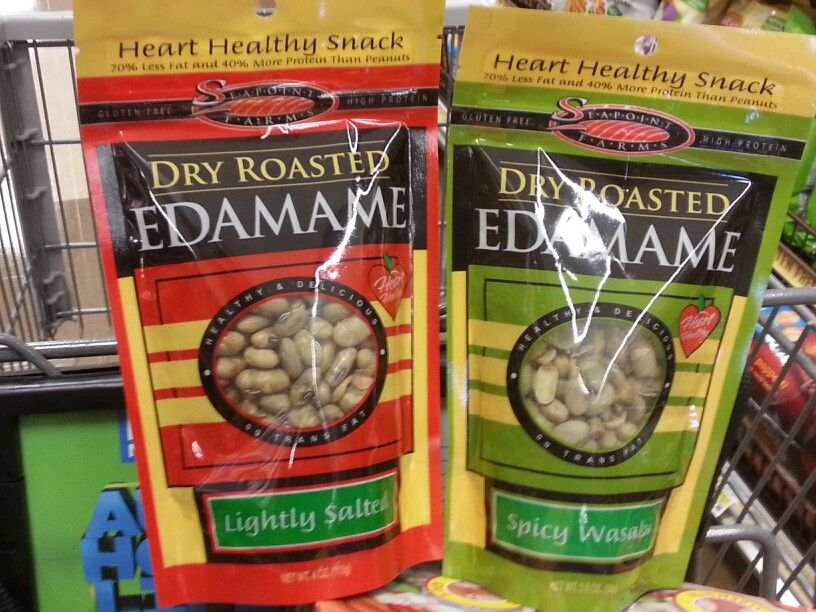 Edamame lightly salted v spicy wasabi