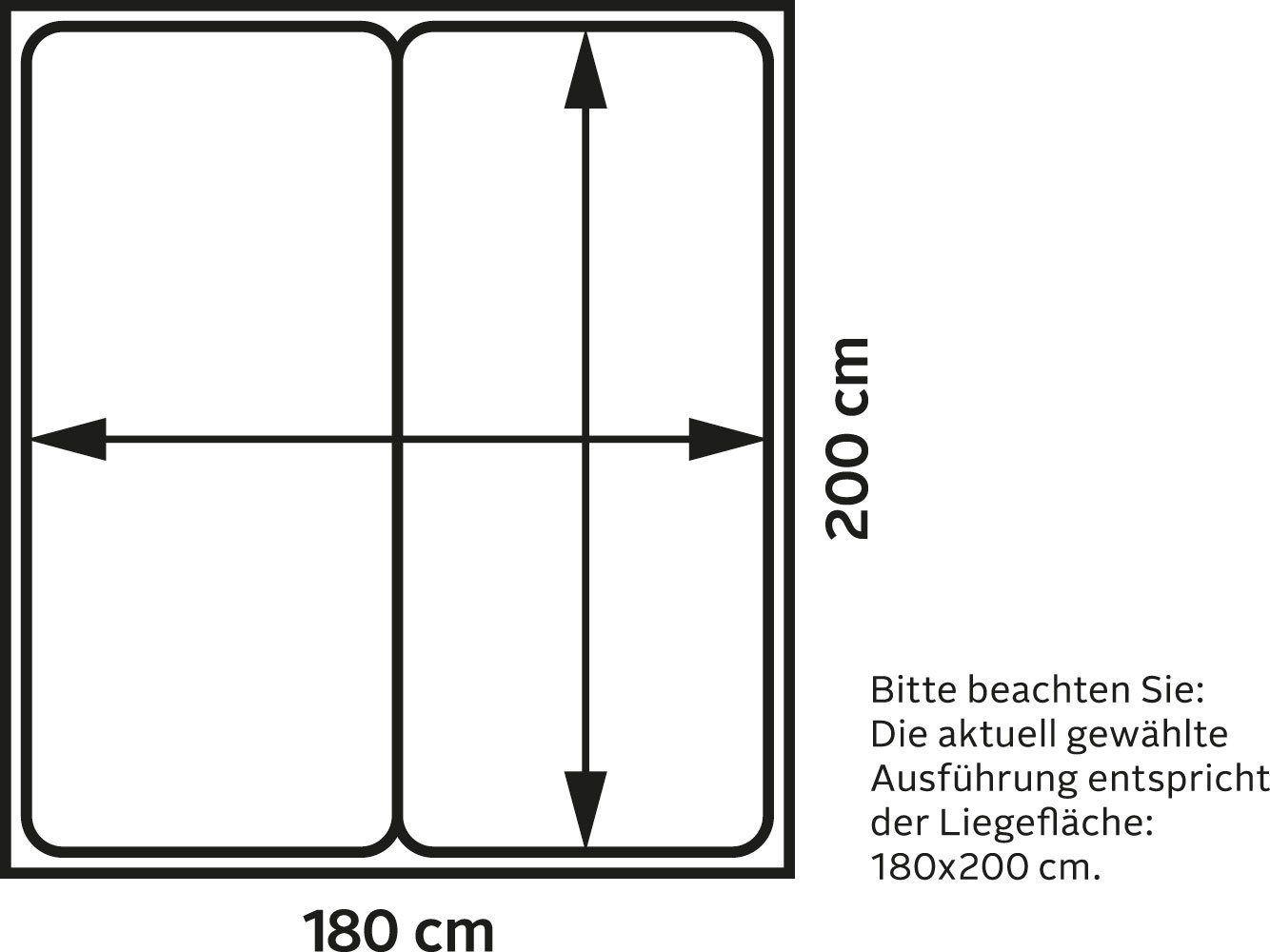 Westfalia Schlafkomfort Boxspringbett, braun