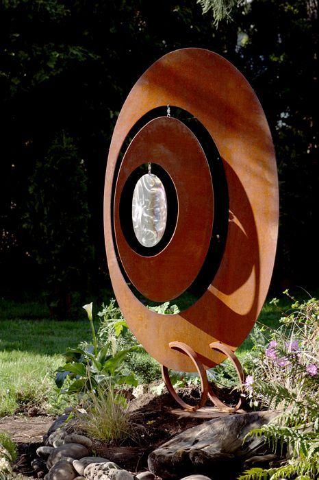 Oval Wind Catcher Garden Sculpture « Phil Beck Metal Art GATE