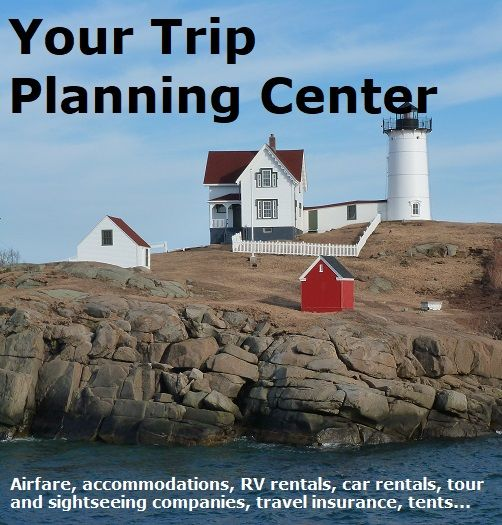 Plan your vacation all in one place including great deals on airfare, accommodations, RV rentals, car rentals, tour and sightseeing companies, travel insurance, guides...  #vacation #travel #familytravel #newengland #tripplanning #greatdeals