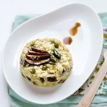 Risotto al the verde con asparagi e shiitake - Ricetta