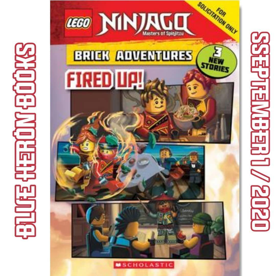 LEGO Ninjago Fired Up 2020 Book Image and Information! - - Credits:  BlueHeronBooks - #ninjago #ninjagoseason12 #ninjago2020 …   Lego ninjago, Chapter  books, Ninjago