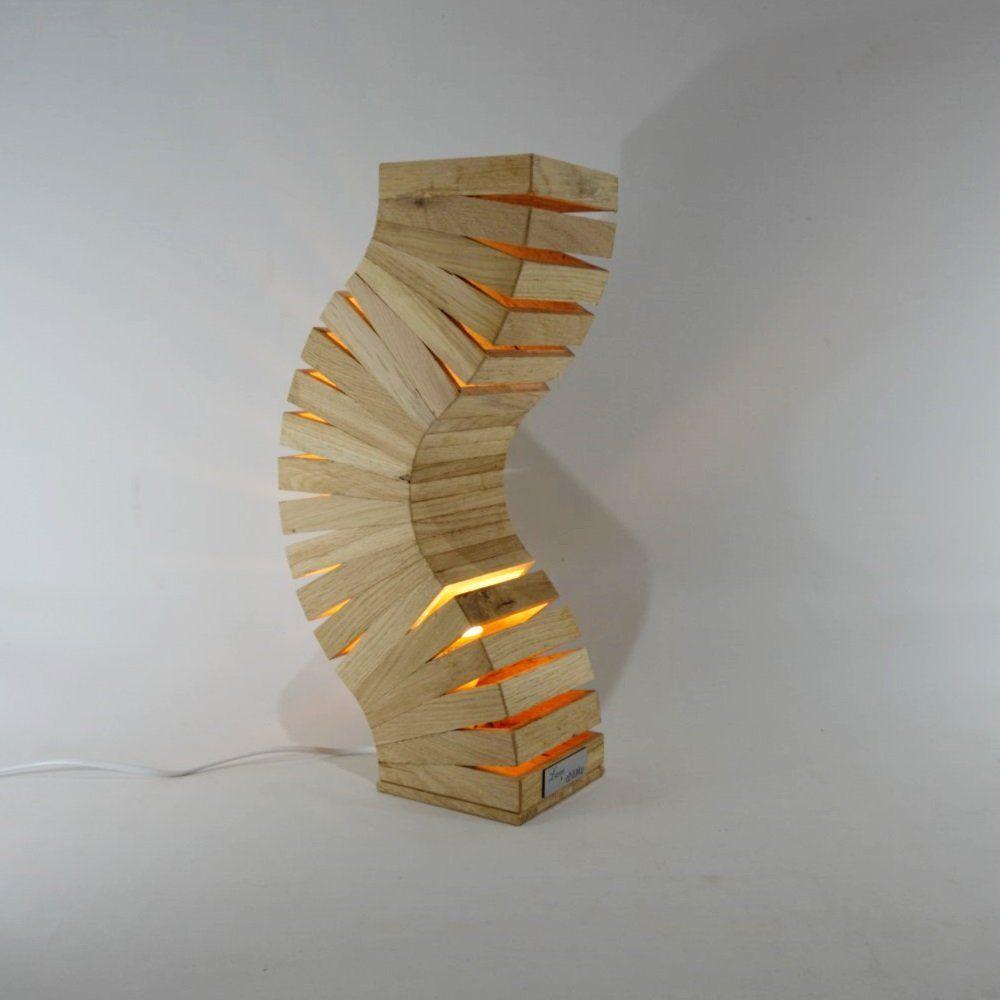 Image D Une Lampe lampe design en bois de ch¨ºne, 'backbone'lune et animo - objets