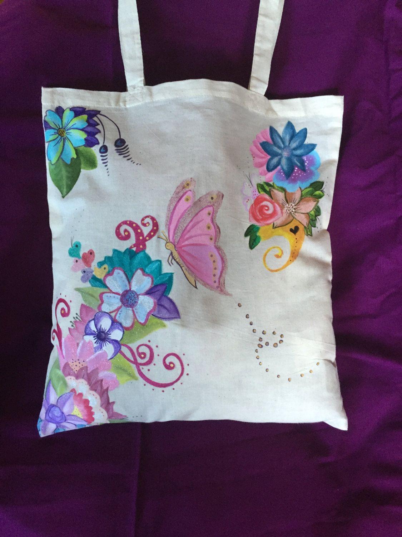 De phonecasesmyladies en etsy hand painted tote bags - Bolsas para pintar ...