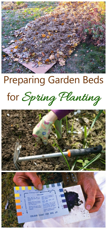 Preparing Spring Flower Beds Leaf Mulch Soil Testing