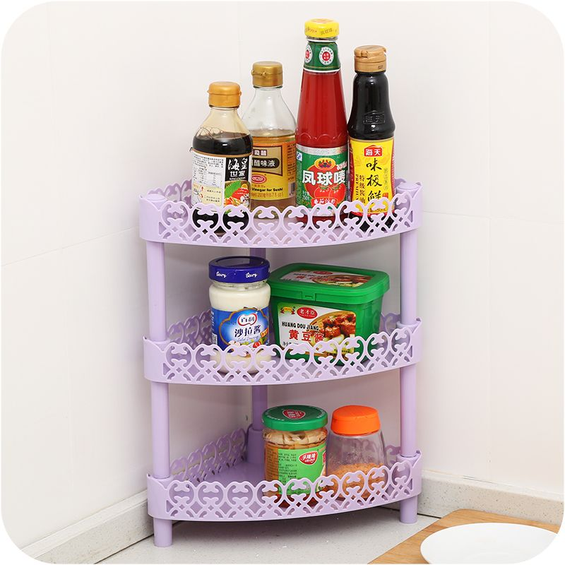 Hot Sale DIY Three Layer Multifunction Plastic Shelves,kitchen Storage  Rack,home Office