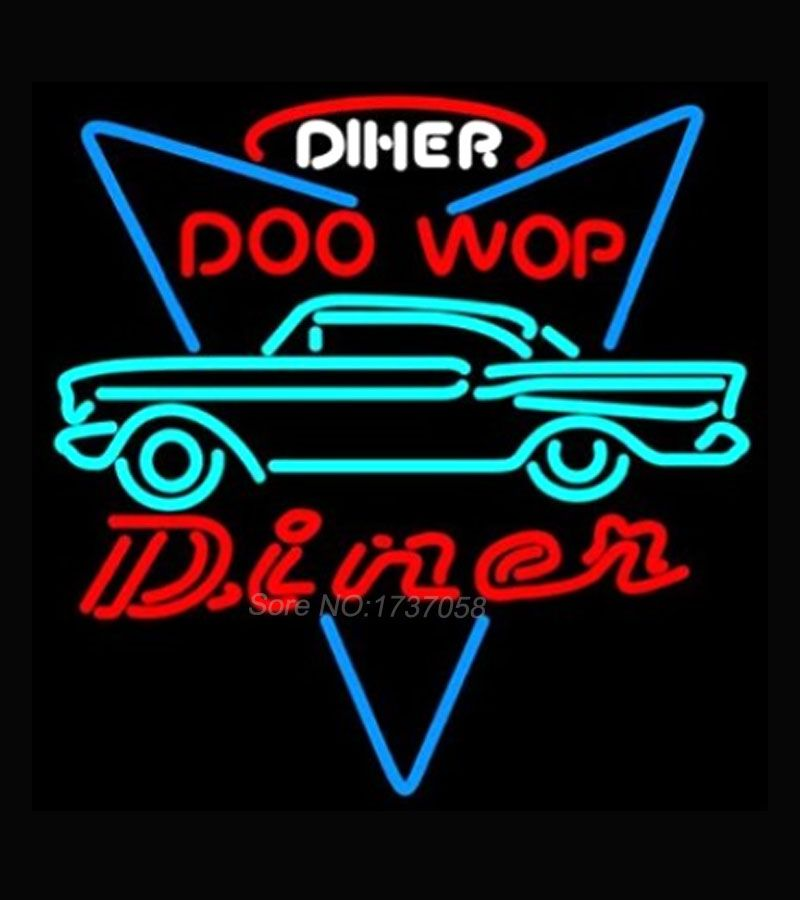 HOZER Professional CAR DINER DRIVE THROUGH Game Room Open Beer Cafe Store Display Beer Bar Neon Light Sign Real Glass Tube 19*15