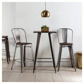 Hampden Industrial Wood Top 29 Counter Stool Me Target Break Room Pinterest Carlisle