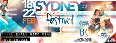 Bailar Kizomba Festival 2016 Sydney dal 18 al 22 febbraio
