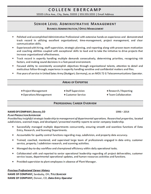 Business Administration Resume Example Resume Examples Business Administration Business Resume Template