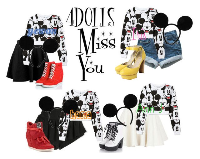 4DOLLS - Miss You by mikki102 on Polyvore featuring polyvore Mode style Forever 21 Carven Levi's Ash Disney fashion clothing