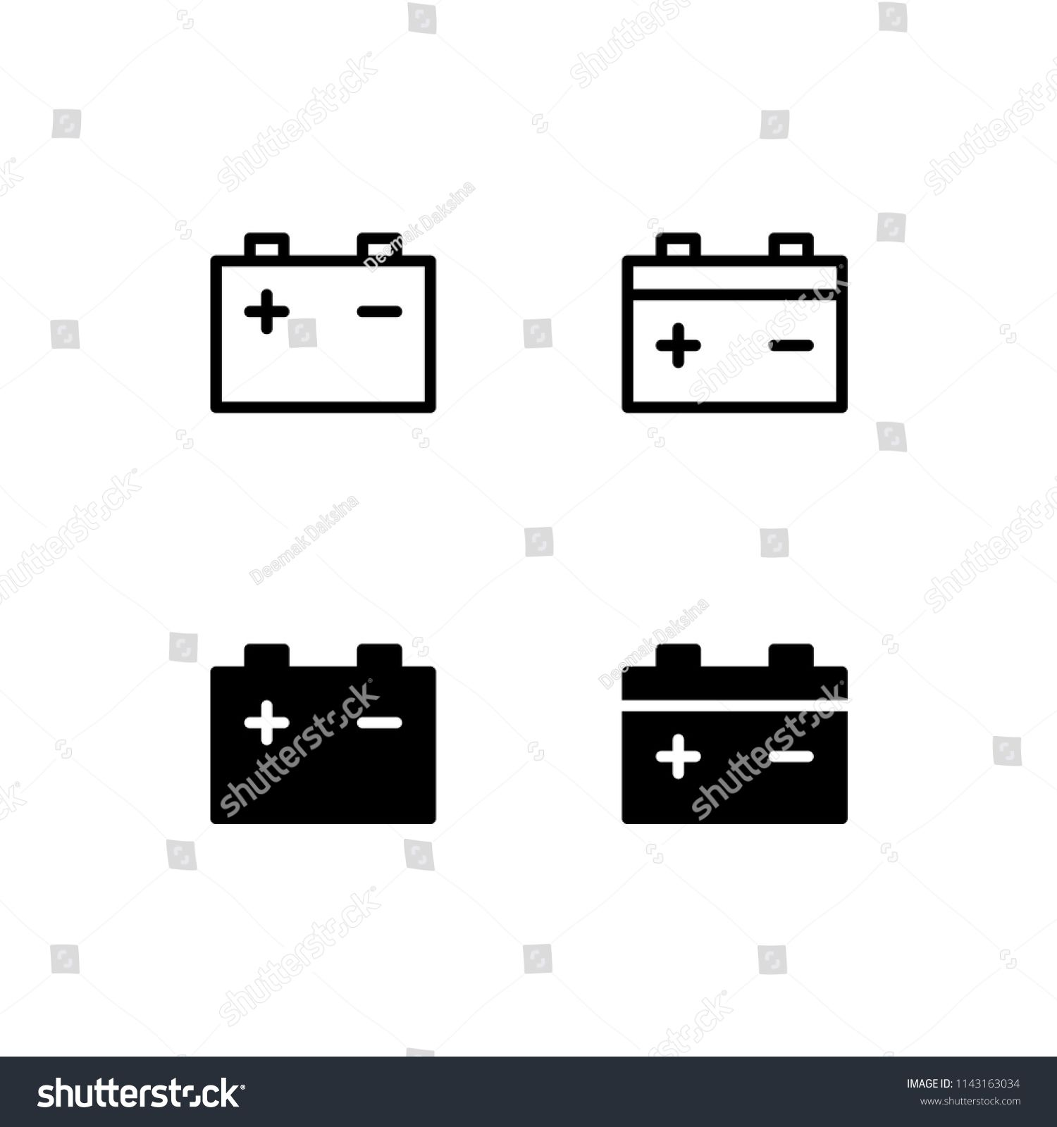 Car Battery Icon Energy Power Electric Maintenance Engine