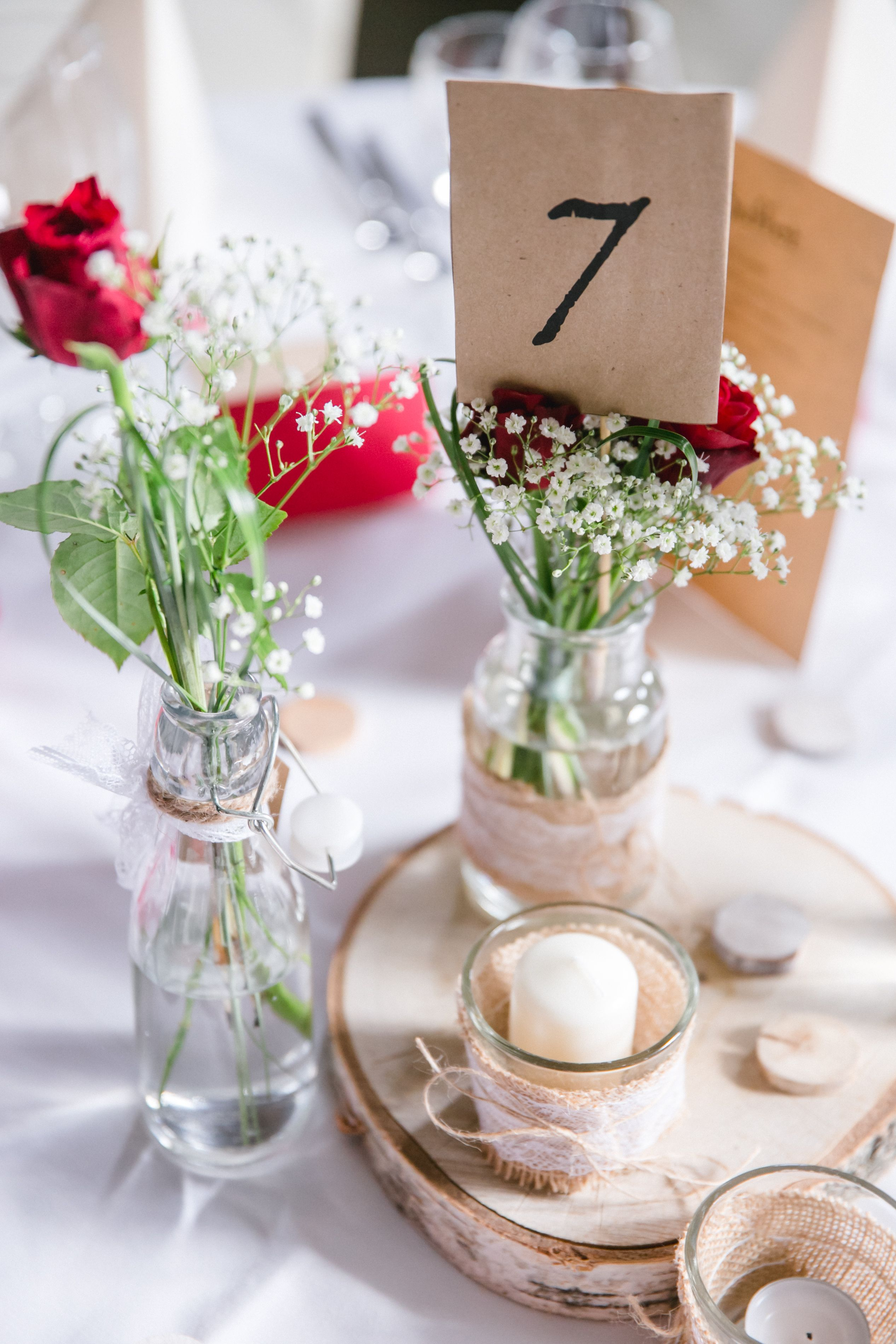 Tischdekoration Unserer Hochzeit Rosendeko Hochzeitsdeko