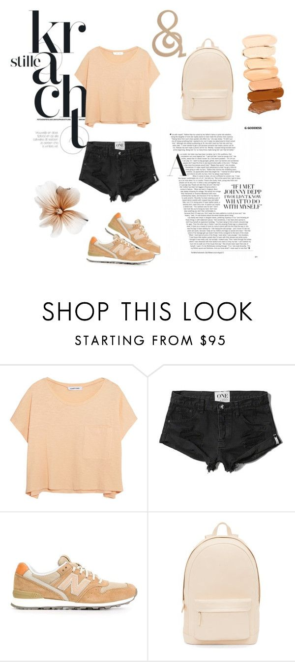"""#PERSICK"" by anastasia-elims ❤ liked on Polyvore featuring Elizabeth and James, Abercrombie & Fitch, New Balance and PB 0110"