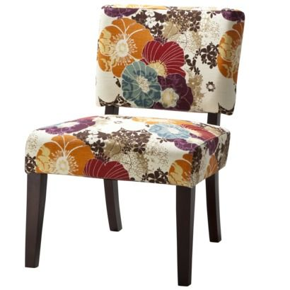 vale open back slipper accent chair floral graffitipossible dining room accent chairs - Decorative Chairs