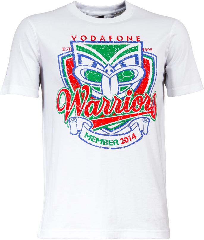 2014 Vodafone Warriors Members Tee Warriorsgear Warriorsforever Nrl Tee Tshirt Retro Go To Www Warriorsstore C Warriors Merchandise Warriors Gear Warrior