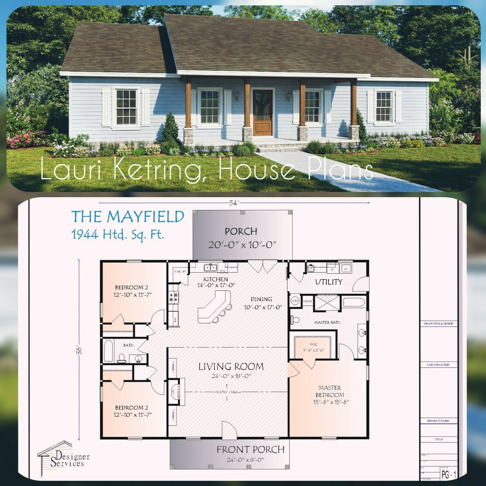 The Mayfield Custom House Home Building Plans 1944 Square Feet Building Plans House House Blueprints House Plans Farmhouse
