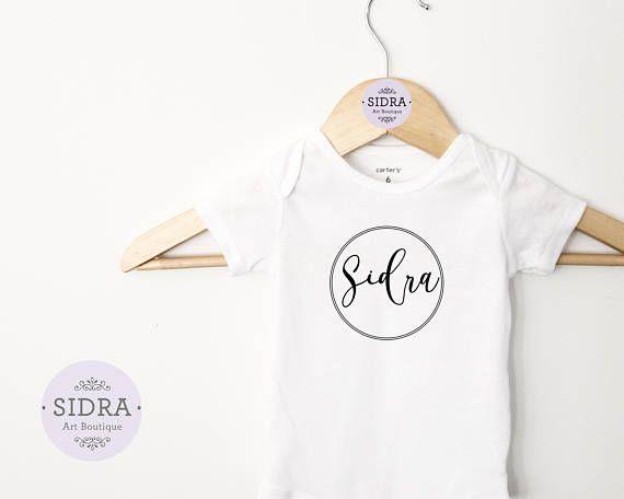 Personalized Name Baby Bodysuit Custom Name Bodysuit