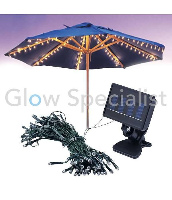 SOLAR PARASOLVERLICHTING - 72 LED LAMPJES | Party gadgets ...