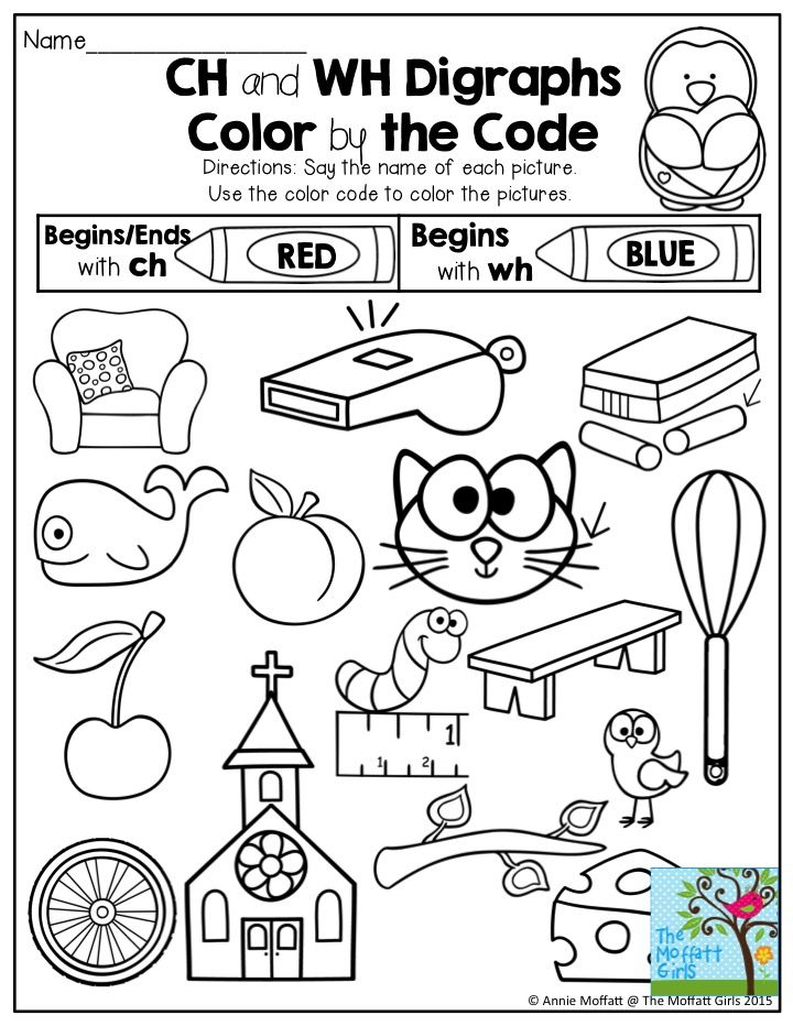 Ch and Wh Digraphs Color by the Code. FUN and engaging